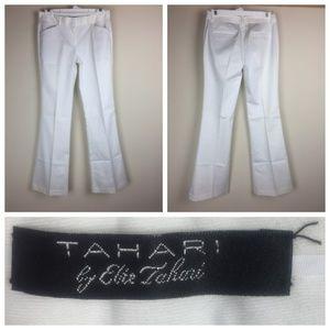 Elie Tahari Anna Boot-Cut Pants Like New White 2